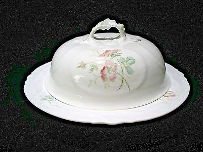 Rare Austria (Goblet)# 779,99,china,pink & Blue Flowers, Round Butter Dish & Lid