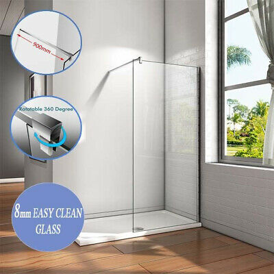 AICA Support Bar Walk in Wet Room Shower Enclosure Screen Panel NANO Glass G16