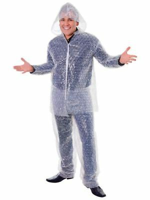 Bubble Wrap Costumer Costume - Adult Fancy Dress Popping Stag Night Outfit Suit