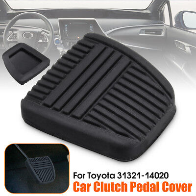 Black Brake Antislip Clutch Pedal Pad Rubber Cover For Toyota 31321-14020 New