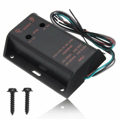 Car Audio 2RCA Speaker High To Low Level Line Output Converter With Adapter Wire