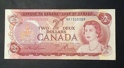 CANADA 2 DOLLARS P86a 1974 QUEEN INUITS UNC 2 PREFIX MONEY CANADIAN BANK NOTE