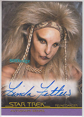 2007 Star Trek The Complete Movies Auto: Linda Fetters-Howard #a4 Autograph