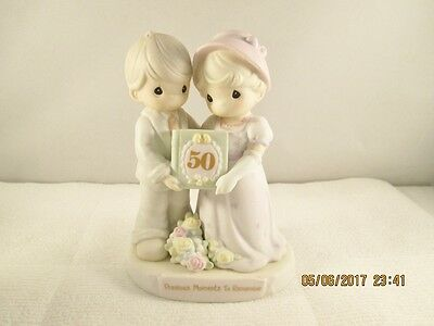 Enesco Precious Moments To Remember 50th  Anniversary Marriage Couple Figurine