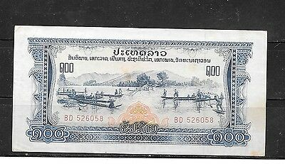 LAOS #23a 1975 VF CIRC 100 KIP OLD BANKNOTE PAPER MONEY CURRENCY BILL NOTE