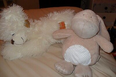 Mamas & Papas Soft toy rabbit & White soft toy dog
