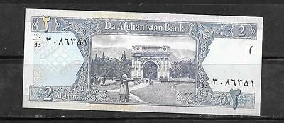 AFGHANISTAN #65a 2002 MINT-CRISP 2 AFGHANIS BANKNOTE BILL NOTE PAPER MONEY