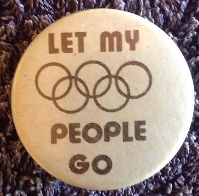 Rare Old Olympic Games Pin Let My People Go