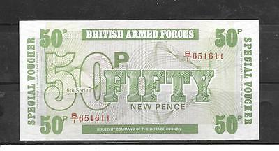 Gb Uk Great Britain M49 1972 50 New Pence Military Unc Old Banknote Bill