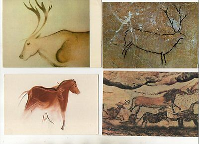15 postcards of PREHISTORIC CAVE PAINTINGS
