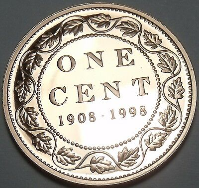 Silver Proof Canada 1998 Cent~Rare~25k Minted~90th Anniversary Of RCM~Free Ship