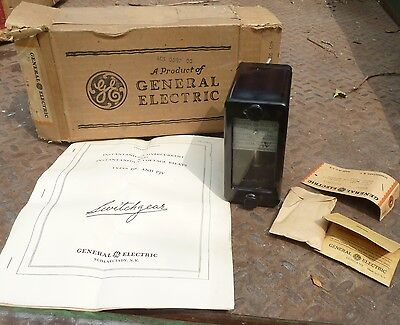 Vintage GE 12PJC11A3T Instantaneous Overcurrent Relay NIB from 1947