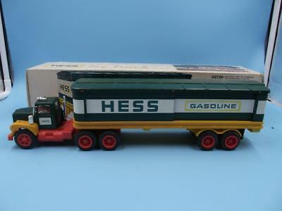 1976 Vintage Early BOXED HESS Gasoline Barrell TRUCK Slide Box EXCELLENT SHAPE