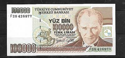 Turkey #206 1997 100000 Lira Xf Used Banknote Paper Money Currency Bill Note
