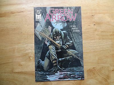 1988 Vintage Dc Comics Green Arrow # 2 Signed Mike Grell,  With Poa