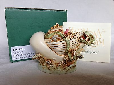Harmony Kingdom Camelot 99 RARE Cachalot Sea Serpent Whale SIGNED PC Figurine