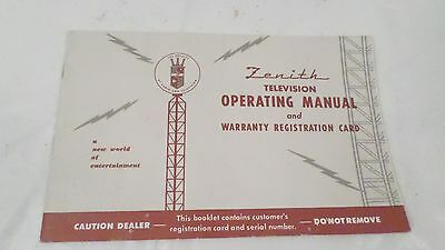 Zenith Television Operating Manual 19721973 Vintage 864 Picclick. Vintage Antique Zenith Television Operating Instructions Manual. Wiring. Zenith 5g03 Wiring Diagram At Scoala.co
