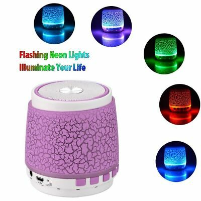 Vanten Glow in the Dark Mini Portable Bluetooth Speakers with Built-in Mic/ FM/