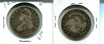 1833 Capped Bust Silver Half Dollar Type Coin Vg 674K