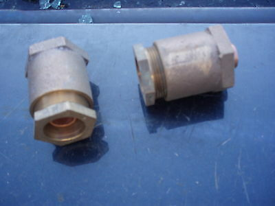 BRASS / GUNMETAL EBCO WATER PIPE FITTING x2, UNUSED OLD STOCK