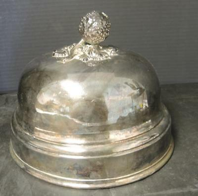 Antique Silver on Copper Domed Meat Cover