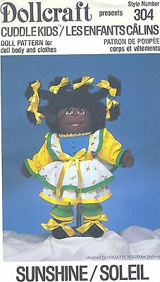 Doll Pattern Cuddle Kids Soft Sculpture Cloth Doll Sunshine Body and Clothes 304