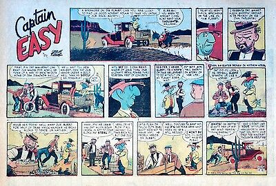 Captain Easy by Leslie Turner - Lot of 13 half-page Sunday comics - middle 1958