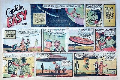 Captain Easy by Leslie Turner - Lot of 12 half-page Sunday comics - early 1958