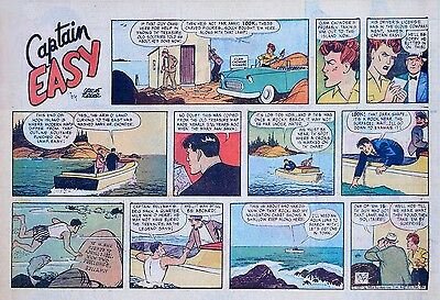 Captain Easy by Leslie Turner - Lot of 13 half-page Sunday comics - middle 1957