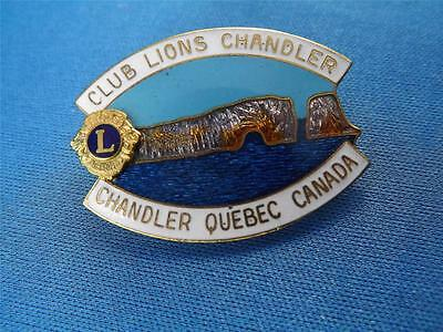 Lions Club Canada Chandler Quebec Vintage Pin Dangling Lion