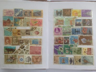 500 Different Nepal Stamp Collection - Mounted in booklet