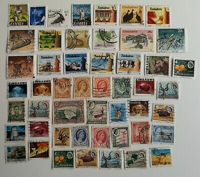 200 Different Rhodesias Stamp Collection - includes Zimbabwe and Zambia