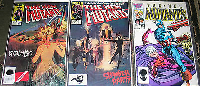 The New Mutants #'s 20 , 21 , 40 Marvel Comics in Fine to Very Fine Condition