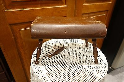 "Hand Made Antique Wood Small Footstool 11"" Long 7"" High  7"" wide  2"" Thick"