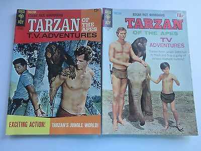 Gold Key Tarzan #162,168 Ron Ely Tv Photo Cover 1966