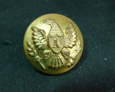 1855-65 CIVIL WAR FEDERAL ARTILLERY EAGLE A 22mm GILT BUTTON D. EVANS Attleboro