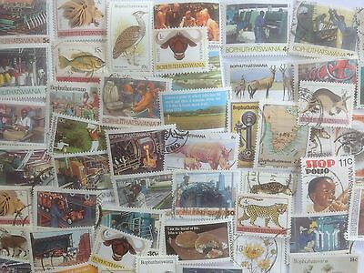 100 Different South Africa Stamp Collection - Bophuthatswana