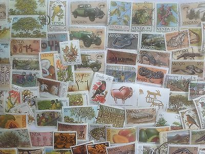 100 Different South Africa Stamp Collection - Venda