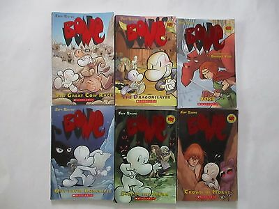 Lot of 6 Bone Books by Jeff Smith (Books 1-4, 9 & Rose) Paperback