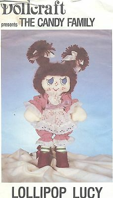 Doll Pattern Candy Family Soft Sculpt Cloth Doll Lollipop Lucy Doll and Clothes