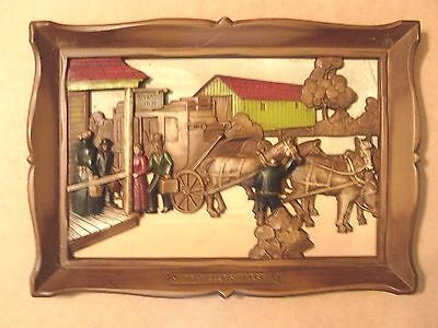 """Syroco Inc. Travelers' Rest  3-D Picture with Frame 10"""" X 14"""""""