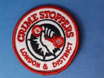 Crime Stoppers London & District Patch Ontario Vintage Collector