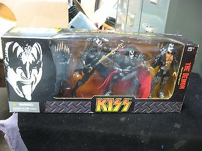 KISS The Demon Super Stage Figures Deluxe 3 Pack Box Set McFarlane Toys NIB