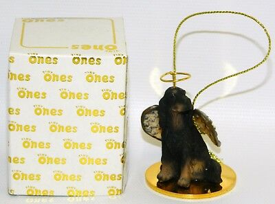 "Gordon Setter Dog Figurine Ornament Angel 2"" Miniature Figure Tiny Ones 1996"