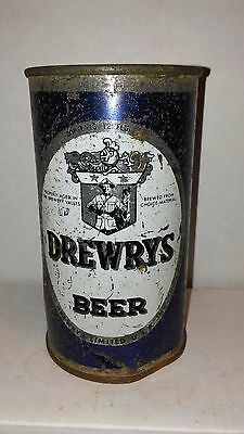 Drewrys Blue Sports Series 12 Oz Flat Top Beer Can - Rusty Gold Dumper