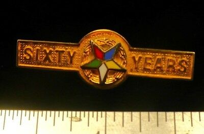 Eastern Star 60 year pin OES small servicce recogniztion award NEW
