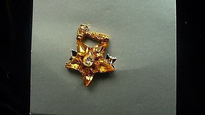 Eastern Star Matrons pin topzaz colour stones star gavel OES colour NEW
