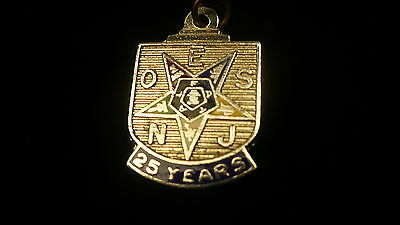 Eastern Star New Jersey 25 year charm  OES silver colour