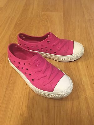 Converse All Star Rubber Slip On Pink Shoes Size 12 Crocs Like Material