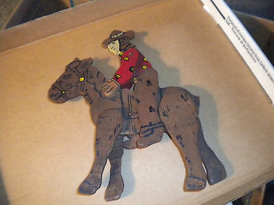 GREAT PIECE OF COWBOY WOODEN FOLK ART western
